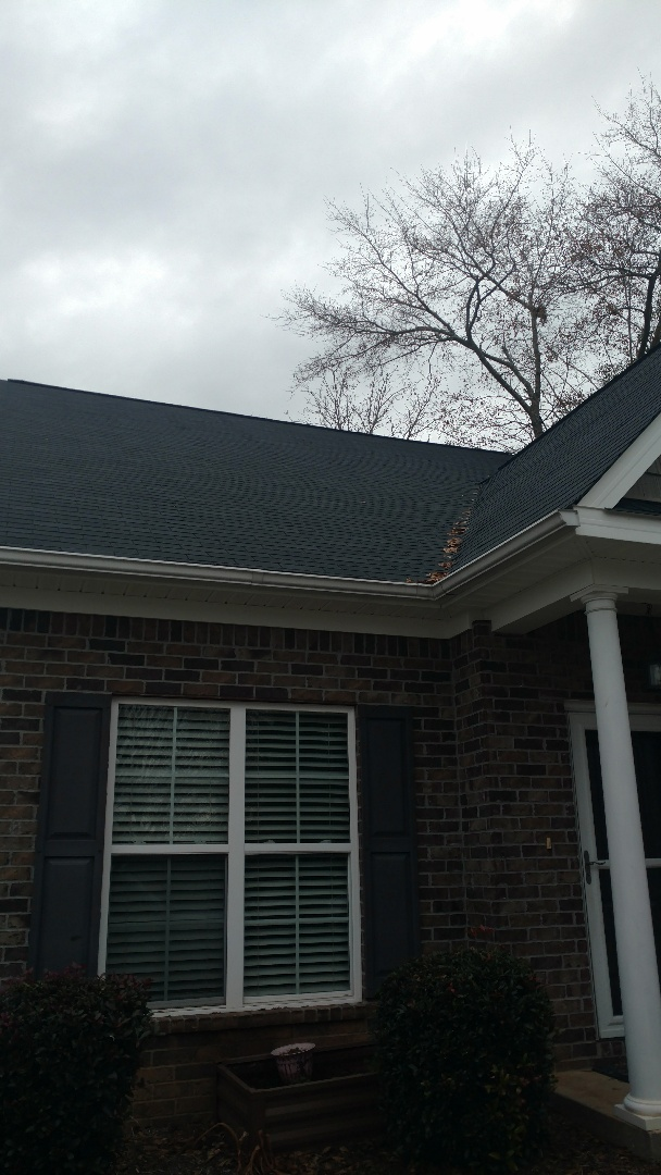 Augusta, GA - Hey, here looking at a roof with a few shingles damaged from a tree.