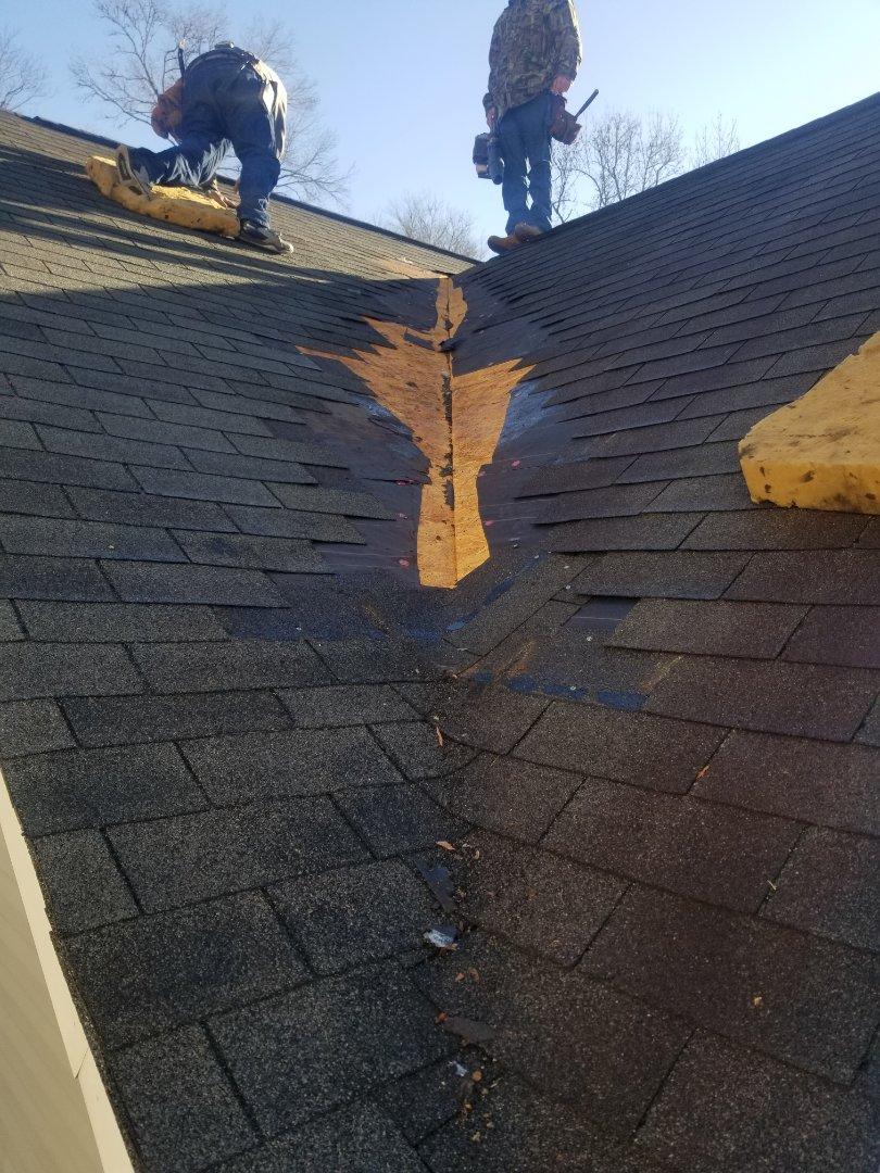Grovetown, GA - Valley repair in Grovetown Ga.