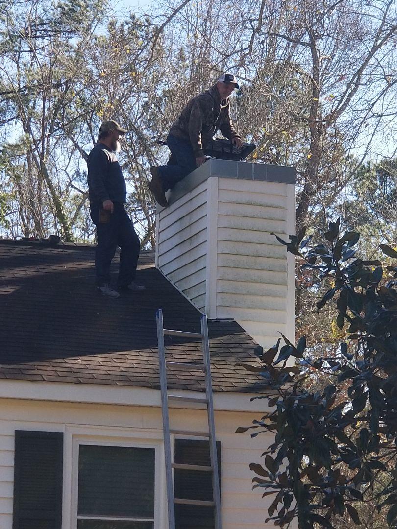 North Augusta, SC - Replacing chimney cap