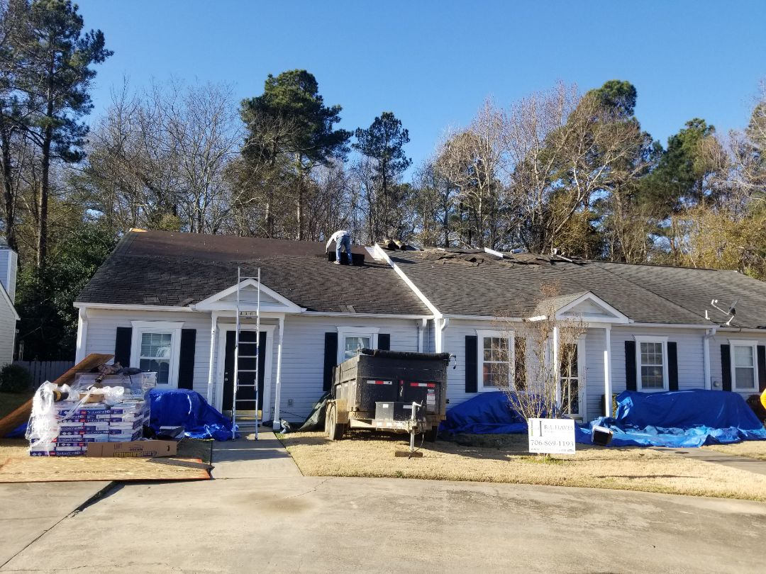 Martinez, GA - We are here replace the roof's on 2 town homes with 30 year architect singles .The color will be charcoal