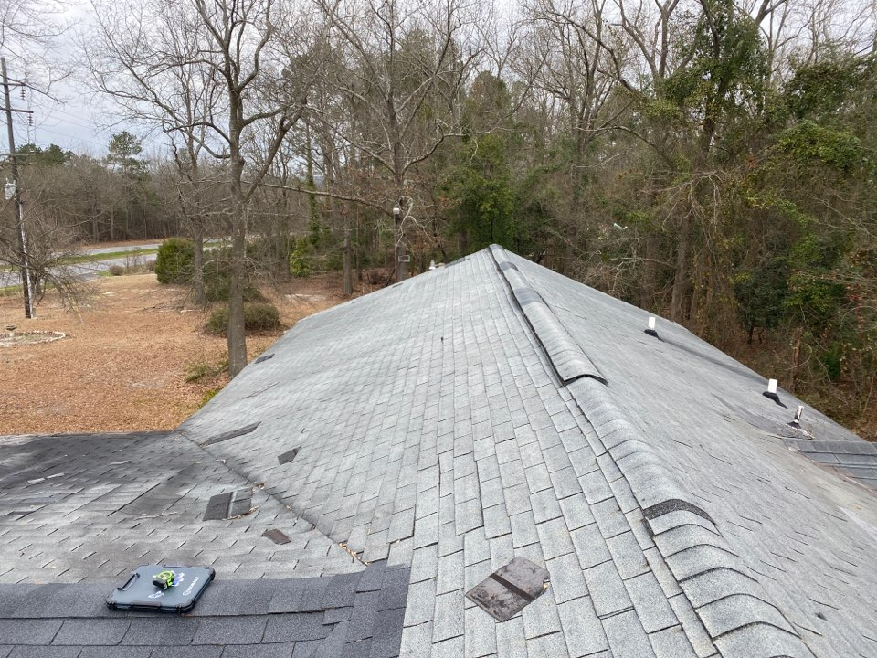 Beech Island, SC - Measuring a roof for a replacement estimate.