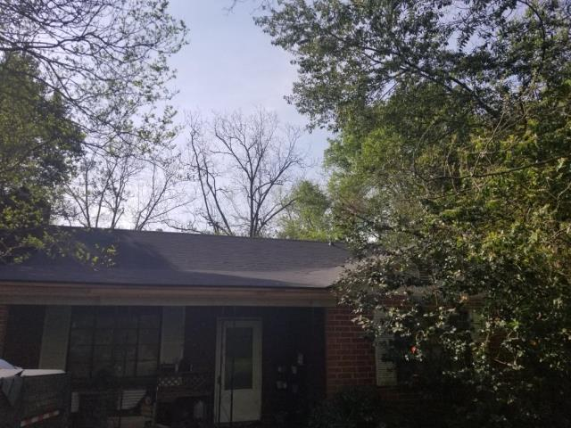 Augusta, GA - Look at this Great looking Roof we just installed on a home in Augusta Ga, Replace some OSB, Replaced PVC pipe Flashing and Vents. GAF 25 year 3-Tabs, Color is Charcoal.