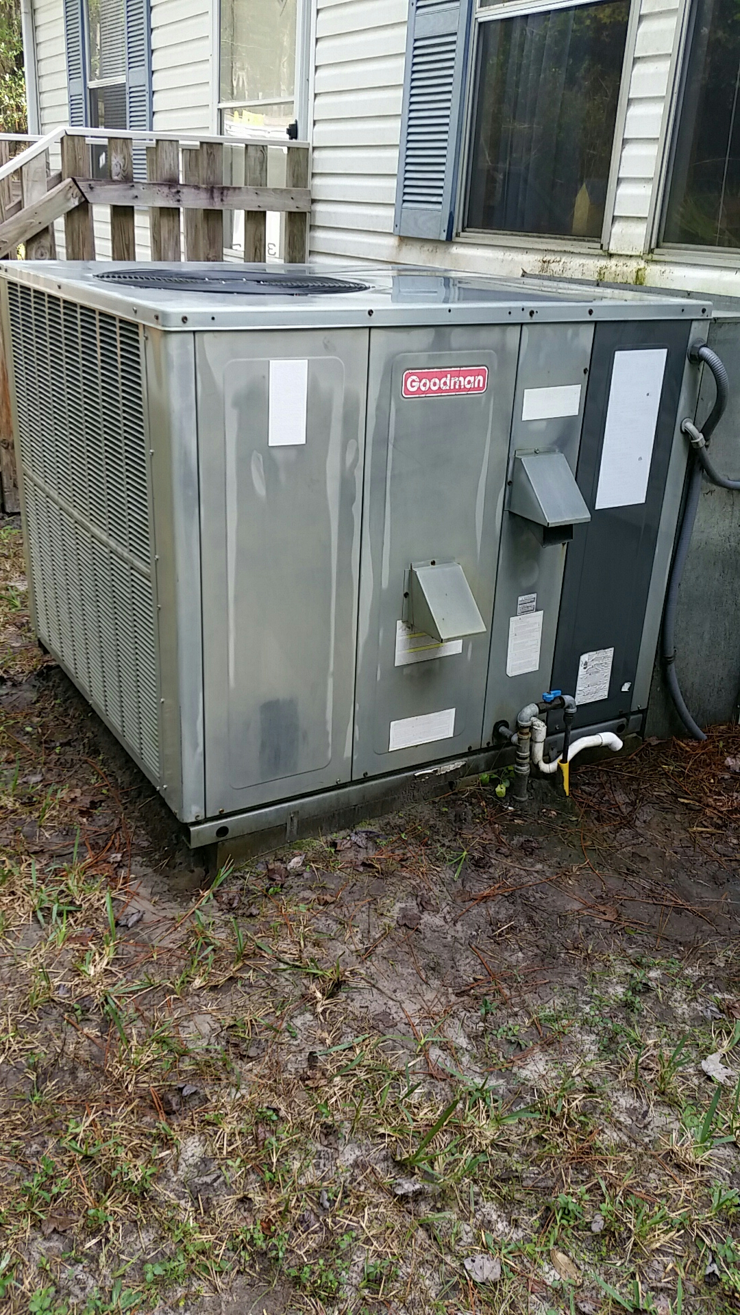 Hastings, FL - Maintenance tune up on Goodman A/C gas furnace package unit
