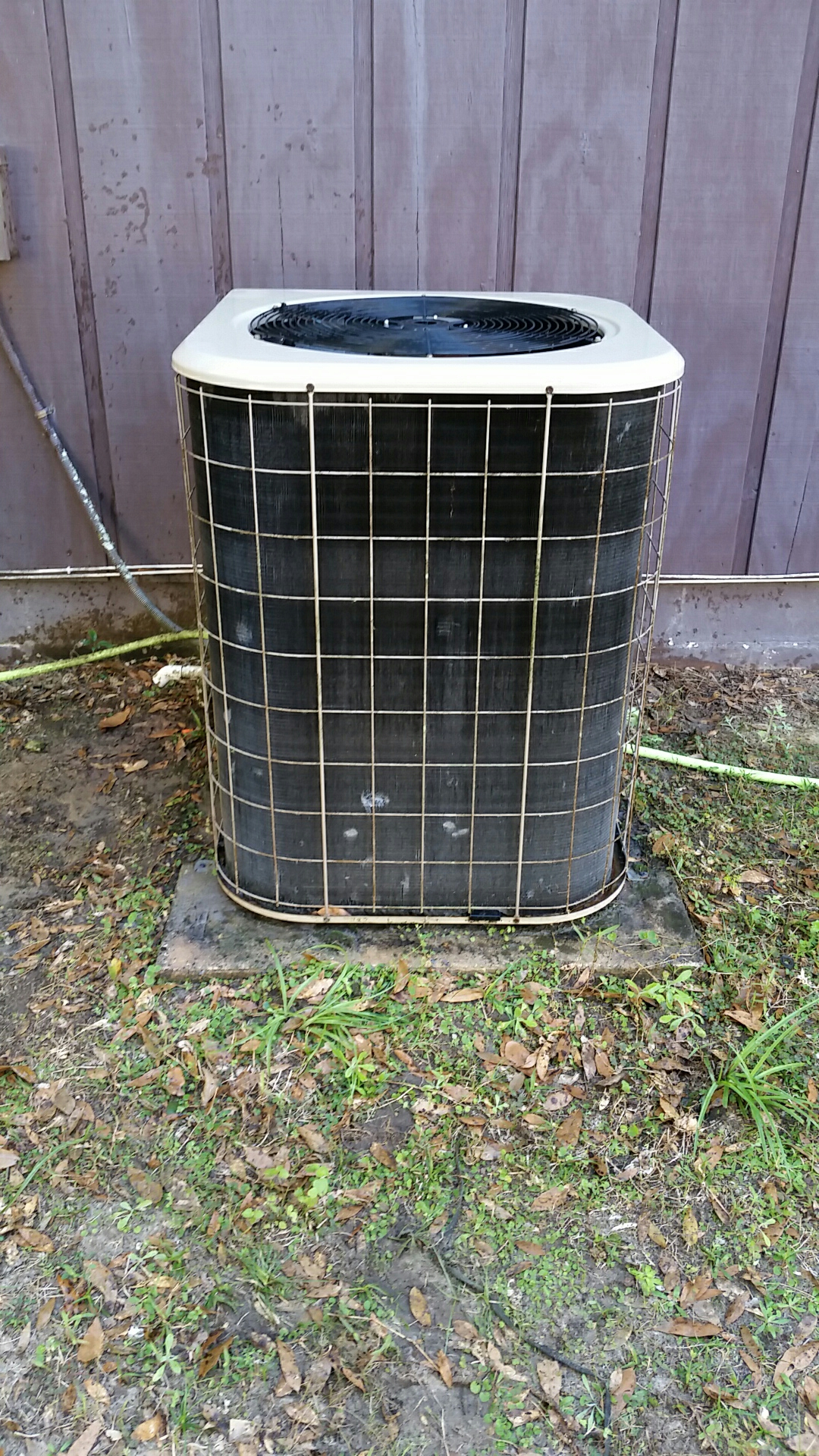 San Mateo, FL - Heat pump tune up maintenance on a Amana split system