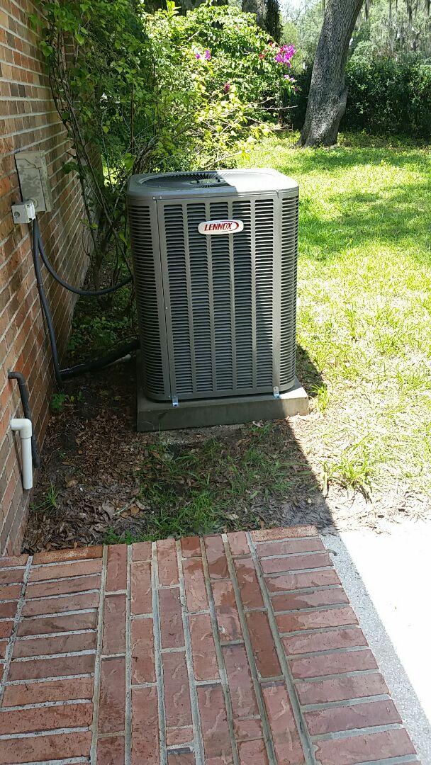 San Mateo, FL - Heat pump cool mode tune up maintenance on a lennox split systems