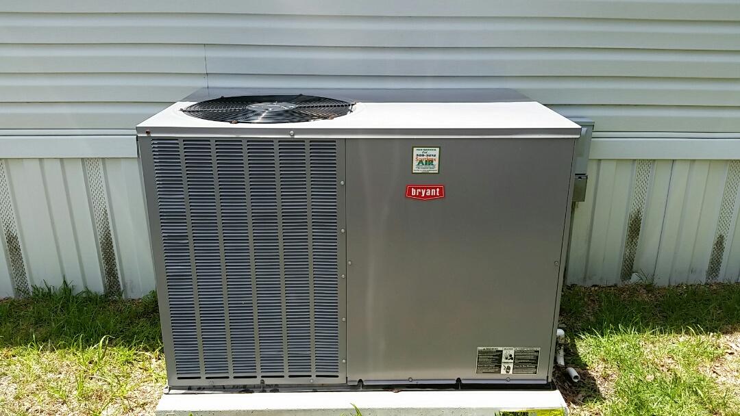 Pomona Park, FL - Heat pump cool mode tune up maintenance on a bryant package unit