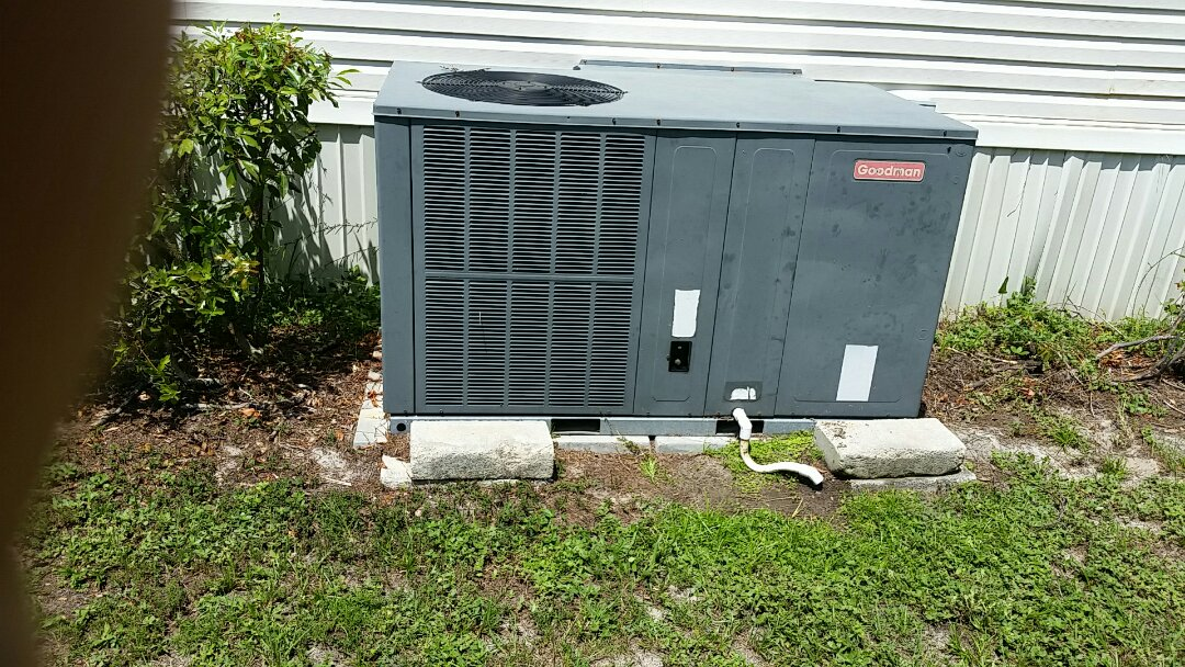 San Mateo, FL - Heat pump cool mode tune up maintenance on a Goodman package unit