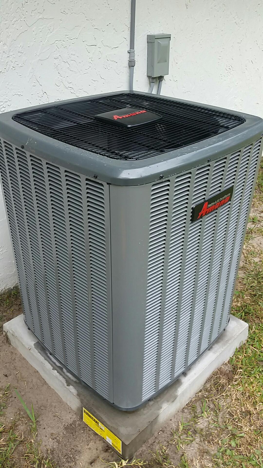 San Mateo, FL - Service on amana heat pump