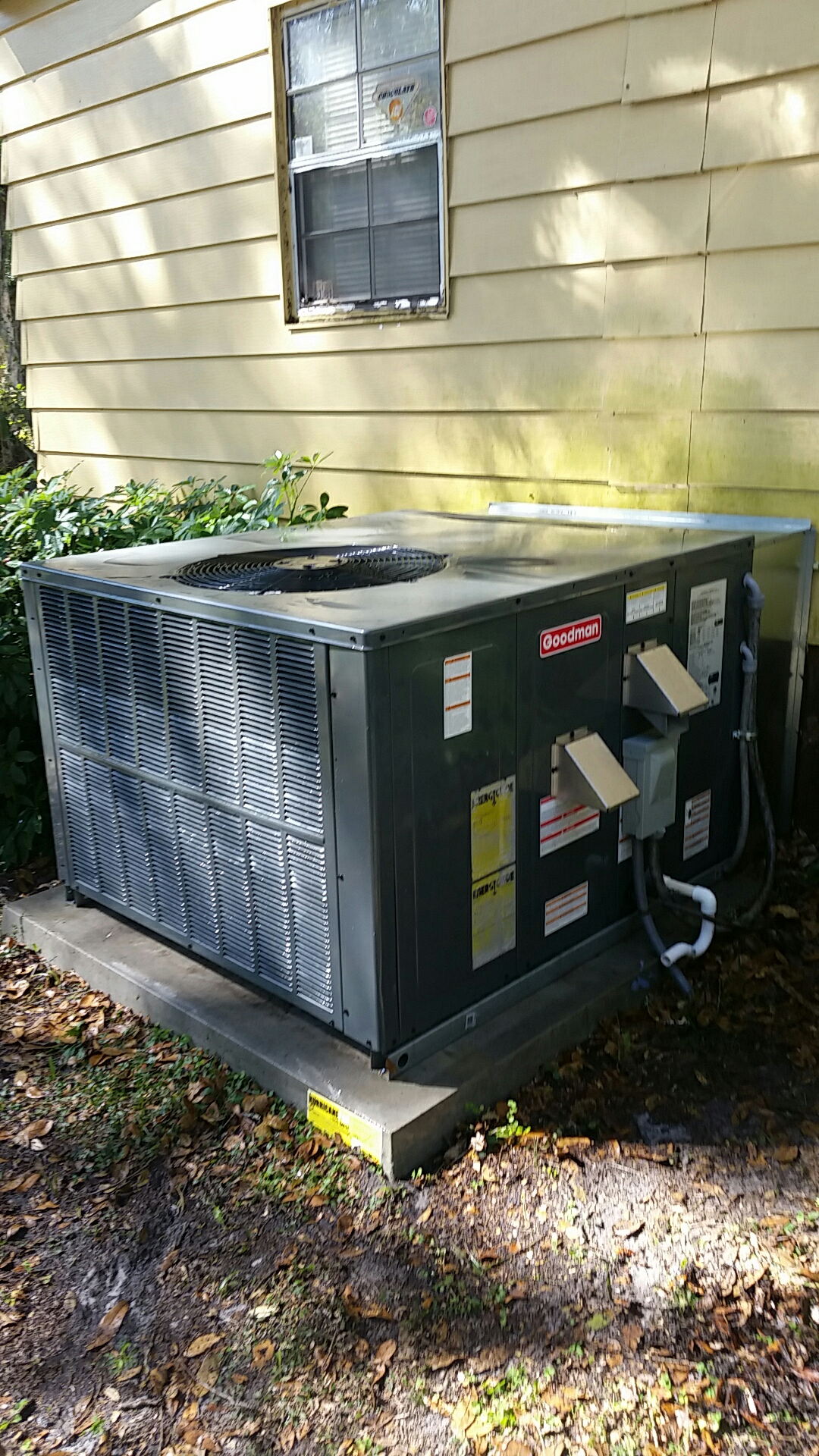 San Mateo, FL - Maintenance on Goodman gas package unit