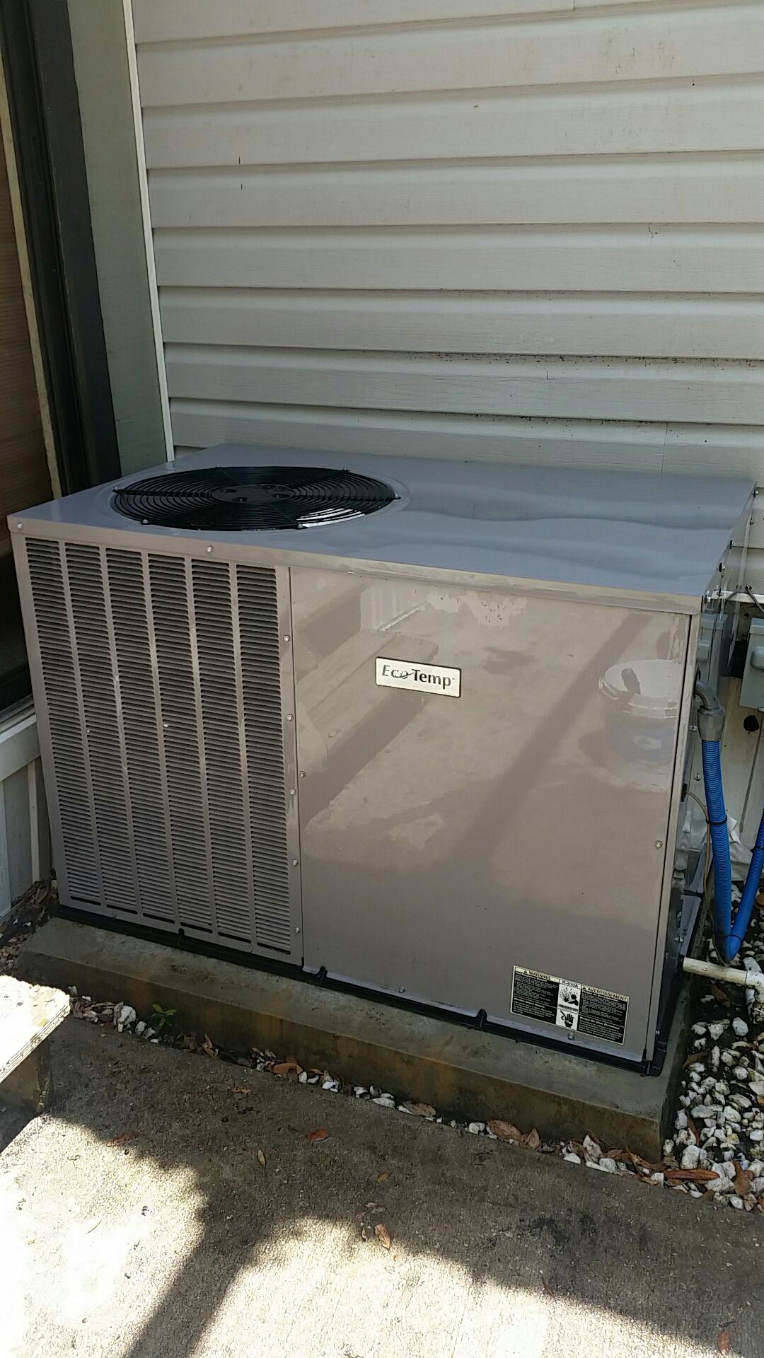 Melrose, FL - Maintenance on Ecotemp package heat pump system