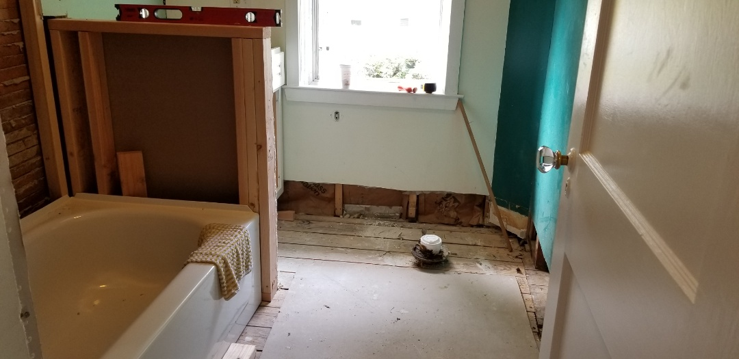Collingswood, NJ - Getting ready to lay a new tile floor