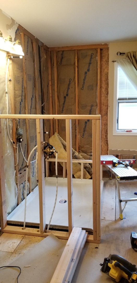 Mount Laurel Township, NJ - Getting ready to  tile the walls