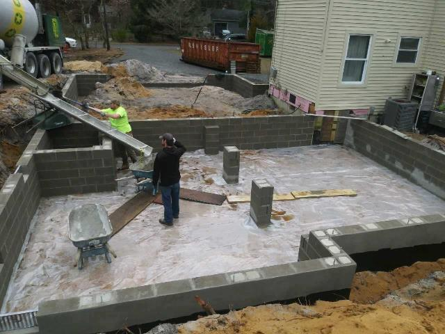 Evesham Township, NJ - At our Marlton addition, the foundation and block work are progressing along and looking great!