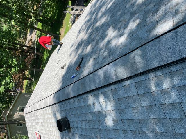Southampton Township, NJ - Removed and replaced damaged roof with GAF Timberline Fox Hollow Grey shingles