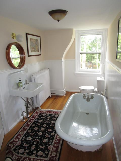 Moorestown, NJ - 1 of 2 bathrooms we did for this family, there home was already so beautiful,  it made our job that much more easier to do. Look at that freestanding tub.