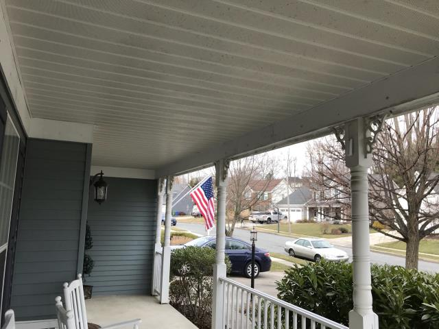 Evesham, NJ - replaced all rotting columns and railings on existing front porch