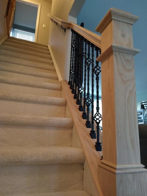Evesham, NJ - We did new rear sliding door/Front door/ storm door/stair railing