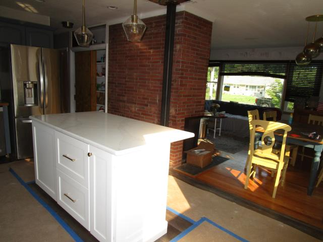 Collingswood, NJ - Halfway mark, floors are protected while cabinets and countertops go in the kitchen