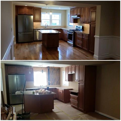 Ocean City, NJ - Before and after kitchen modification with Viwinco windows in Ocean City, NJ!  Great Job, Hector!