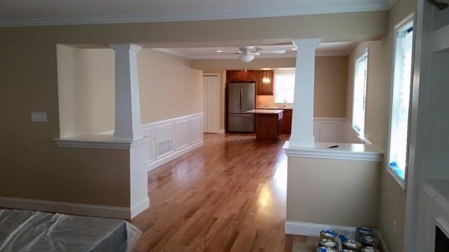 Ocean City, NJ - Custom trim in a dining room renovation in Ocean City, NJ!