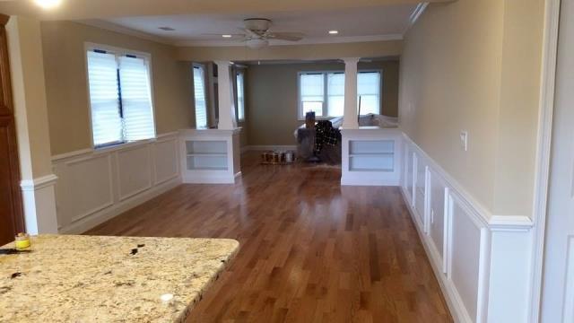 Ocean City, NJ - Custom trim in this dining room renovation in Ocean City, NJ!