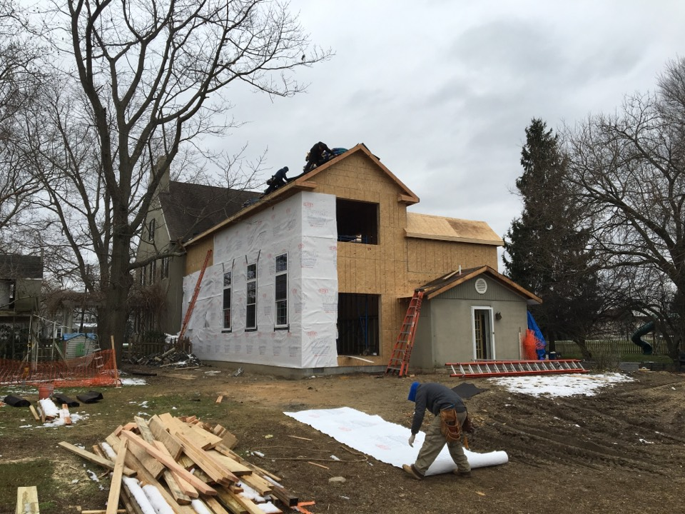 Lumberton, NJ - This beautiful farmhouse addition is really coming along!