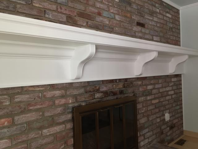 Marlton, NJ - Gorgeous custom fireplace mantle we created in Marlton, NJ ! Could your fireplace use a facelift, call Nuss today !