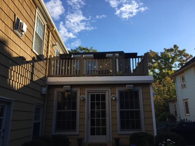 Haddonfield, NJ - Replacing second story fiberglass deck in Haddonfield.  Great use of available space !
