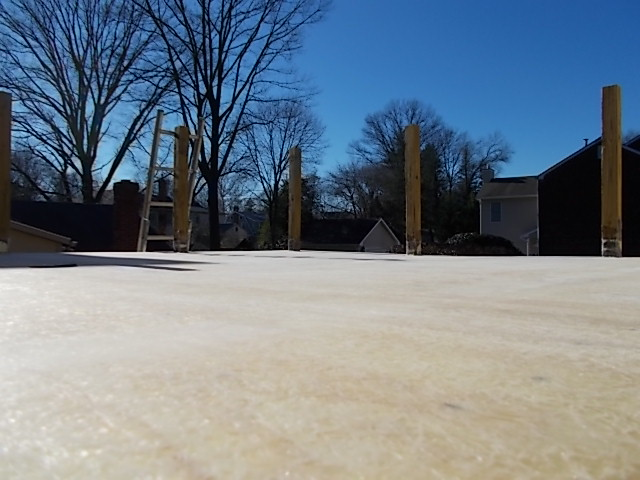 Haddonfield, NJ - Fiberglass roof deck in Haddonfield progressing well !  Base coats of fiberglass have been applied and sanded, ready for color gel to be added today. Check back for more updates !