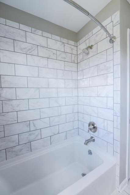 Medford Lakes, NJ - 6x12 classic carrara glossy subway tiles are a great look in this hall bathroom in Medford Lakes !