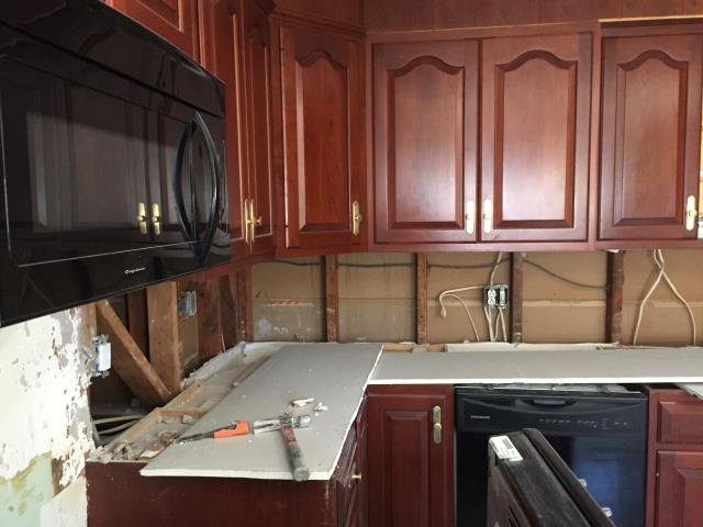 Haddonfield, NJ - Demolition has begun in Haddonfield.  This kitchen will be updated with new floor, new tile back-splash, new countertops, new appliances and new lighting.  Check back for more updates !
