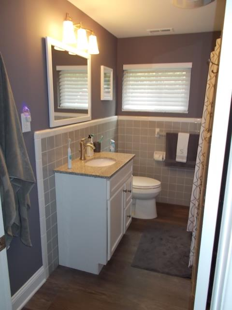 Haddonfield, NJ - Great work by the Nuss team on giving this 1950's bathroom a facelift and some modern touches in Haddonfield.