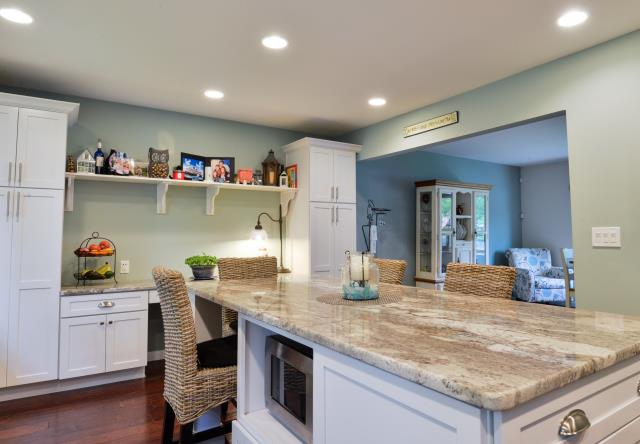 Cherry Hill, NJ - I love the extra storage pantries and desk area built in to this Cherry Hil kitchen.