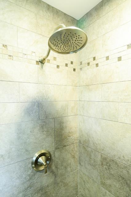 Westampton Township, NJ - Close up detail in our Eastampton bathroom shower.