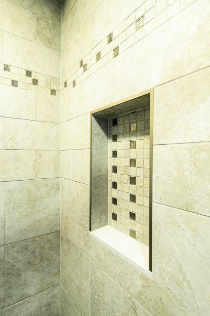 Westampton Township, NJ - Eastampton shower niche.