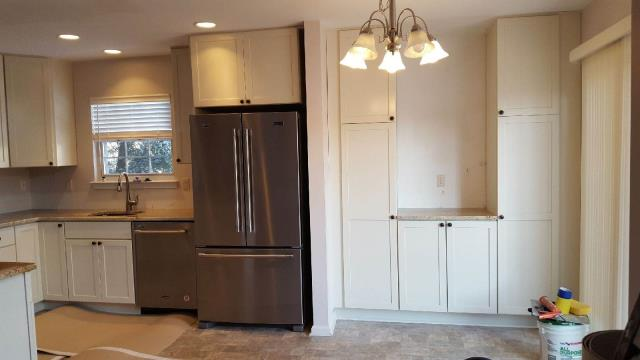 Evesham Township, NJ - Our Homeowners already love this reconfigured pantry area (and we're not even finished yet !)