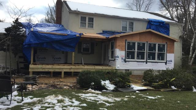 Moorestown, NJ - On our Moorestown addition and deck project, framing is nearing completion ! Check back for more updates !