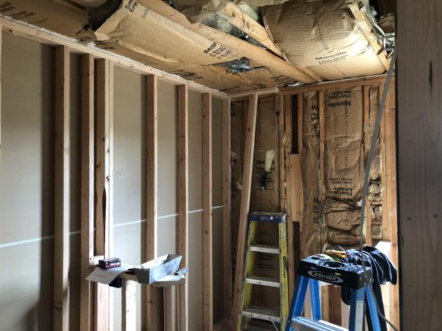 Atco, NJ - Framing and rough electric are ongoing at our master suite remodel in Atco ! This master bathroom is going to be fantastic when it's completed !