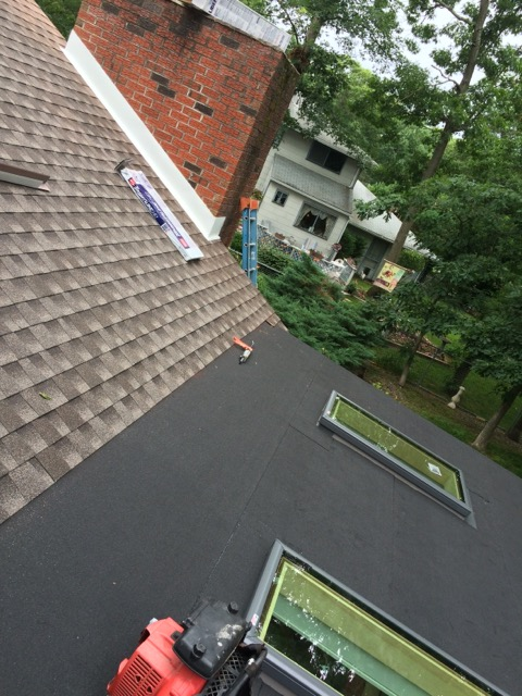 Berlin, NJ - Our siding and roofing job in Berlin is well underway.  New skylights  properly installed and flashed in the sunroom will serve this family well for many years to come !