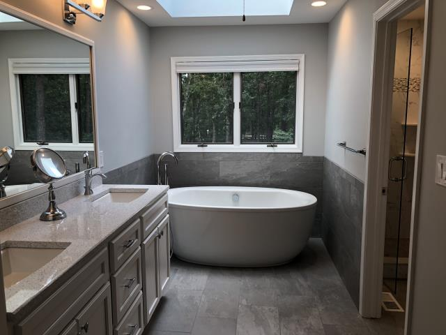 Medford, NJ - Our Highbridge master bath remodel is complete and gorgeous, thanks to great selections by our Customer and craftsmanship by the Nuss team !