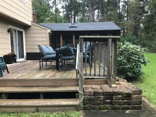 Medford, NJ - Next week we begin building  NEW DECK with Timber Tech in this Medford backyard.  Check back for more updates !  Fire pit in time for Christmas !