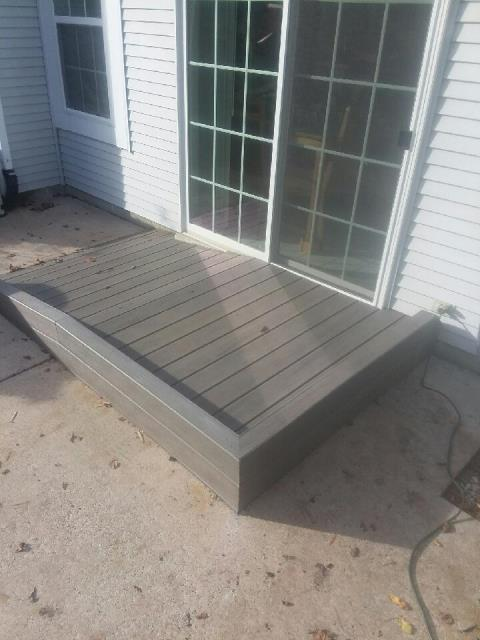 Medford, NJ - In Medford, we built a small ramp and landing based on our client's needs.  He is wheelchair-bound, and his power chair allows him to be quite mobile.  Thanks to the new ramp, he can now enjoy his backyard patio and all that nature offers.  #WeLoveOurCustomers #NussConstruction