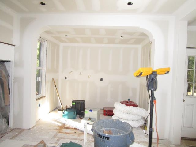 Collingswood, NJ - 1 of 3 - at our signature remodel job in Collingswood, here are pictures of drywall going up in what will be the new kitchen and laundry/mud room areas. Our Carpenters are doing a fantastic job!