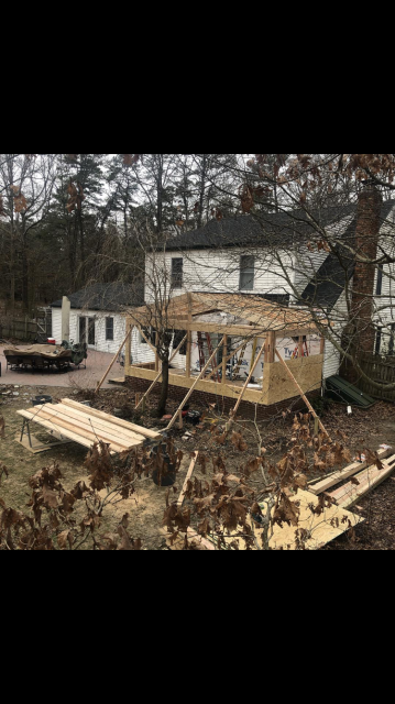 Shamong, NJ - Three season room with new vinyl siding, GAF 3-tab shingles,  wind core windows and sliding doors, electric to include ceiling fans and cable TV.  Will be ready in time for spring evenings!
