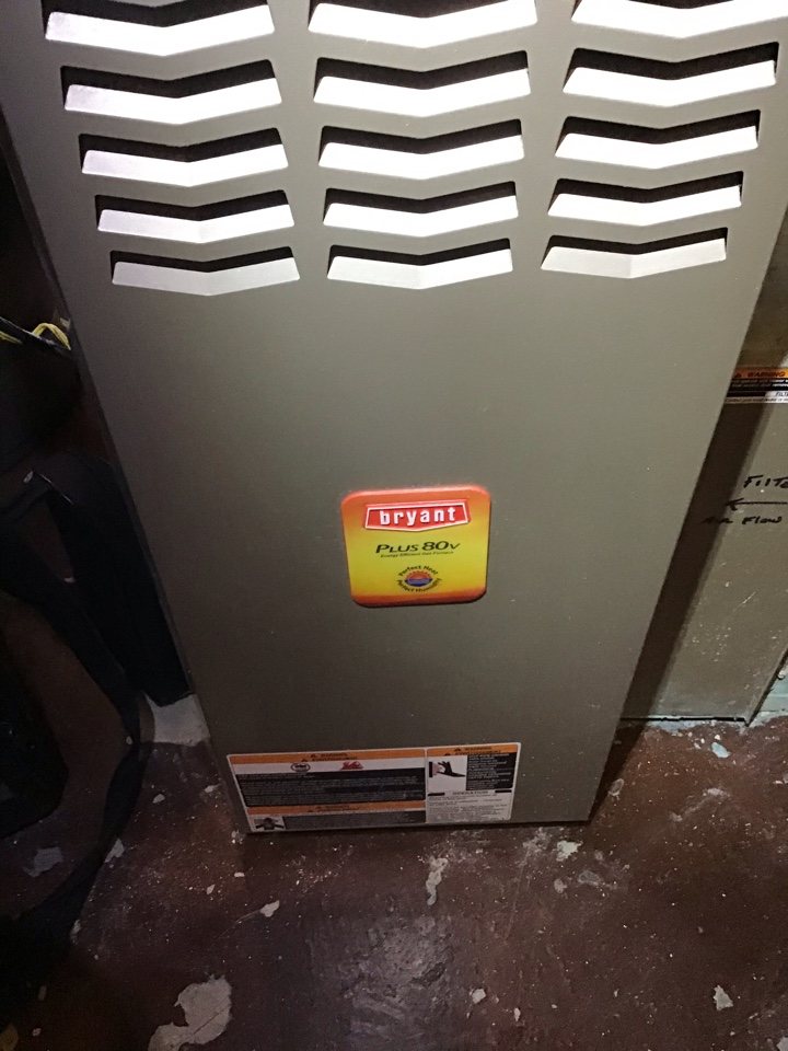 Worthington, OH - Furnace repair on maintenance inspection included checking of electrical connections and combustion analysis to ensure safe and efficient operation.