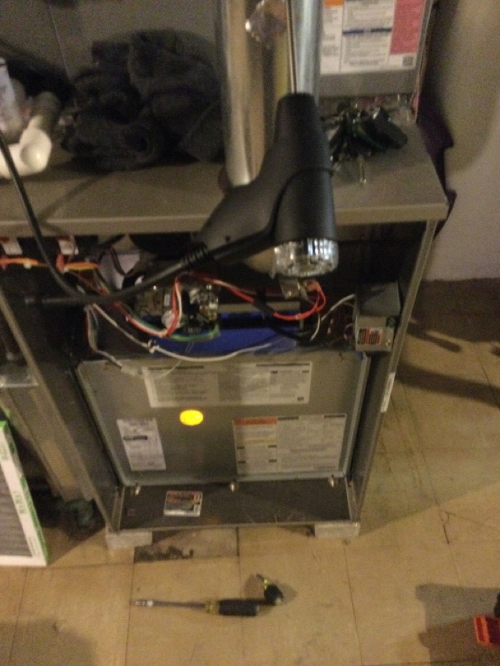 Upper Arlington, OH - Performing maintenance on a 2018 Bryant gas furnace.
