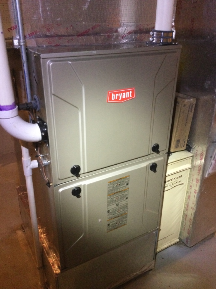 Westerville, OH - Annual maintenance check on a Bryant furnace, with humidifier service