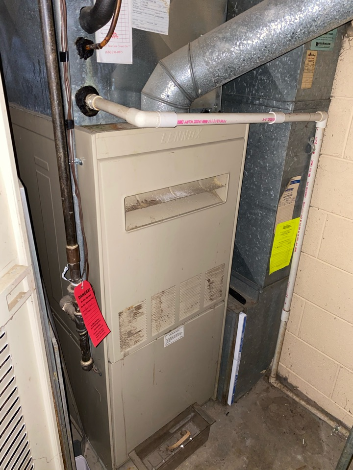 Columbus, OH - Furnace found to have cracked heat exchanger. Proposed cost of new furnace installation