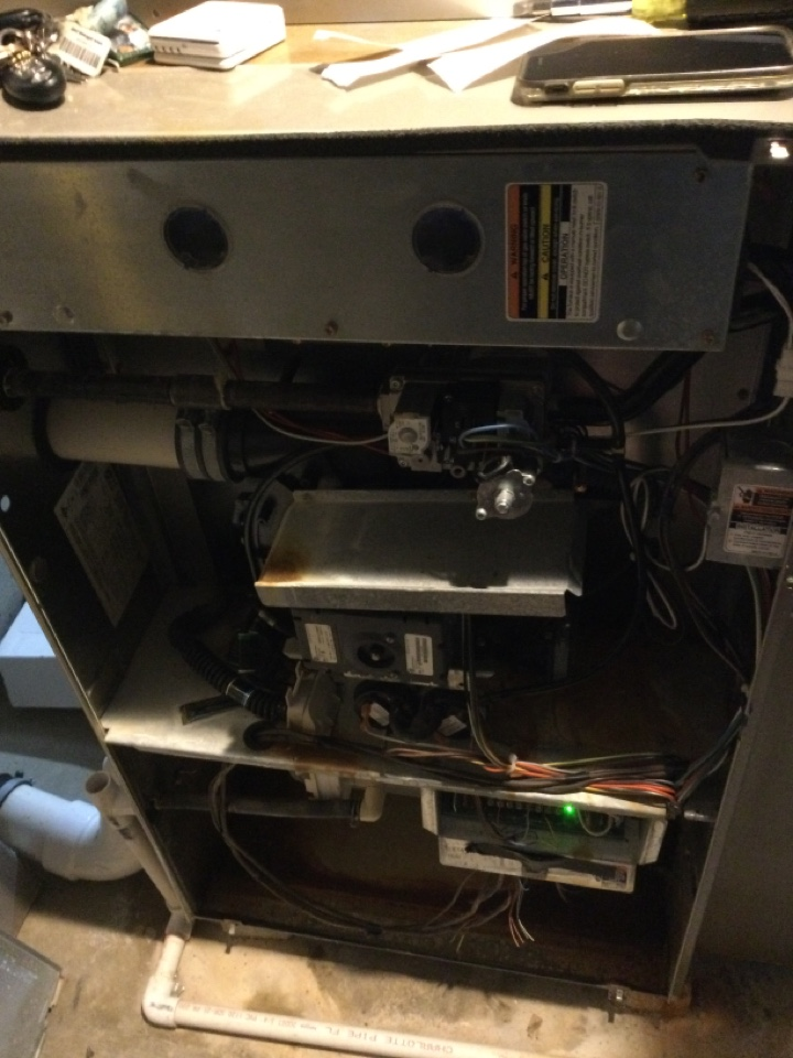 Dublin, OH - Performing maintenance on a 2006 Bryant gas furnace.