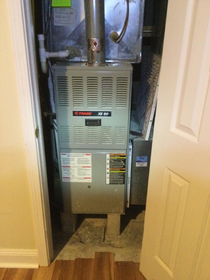 Galena, OH - Annual maintenance check on a Trane furnace